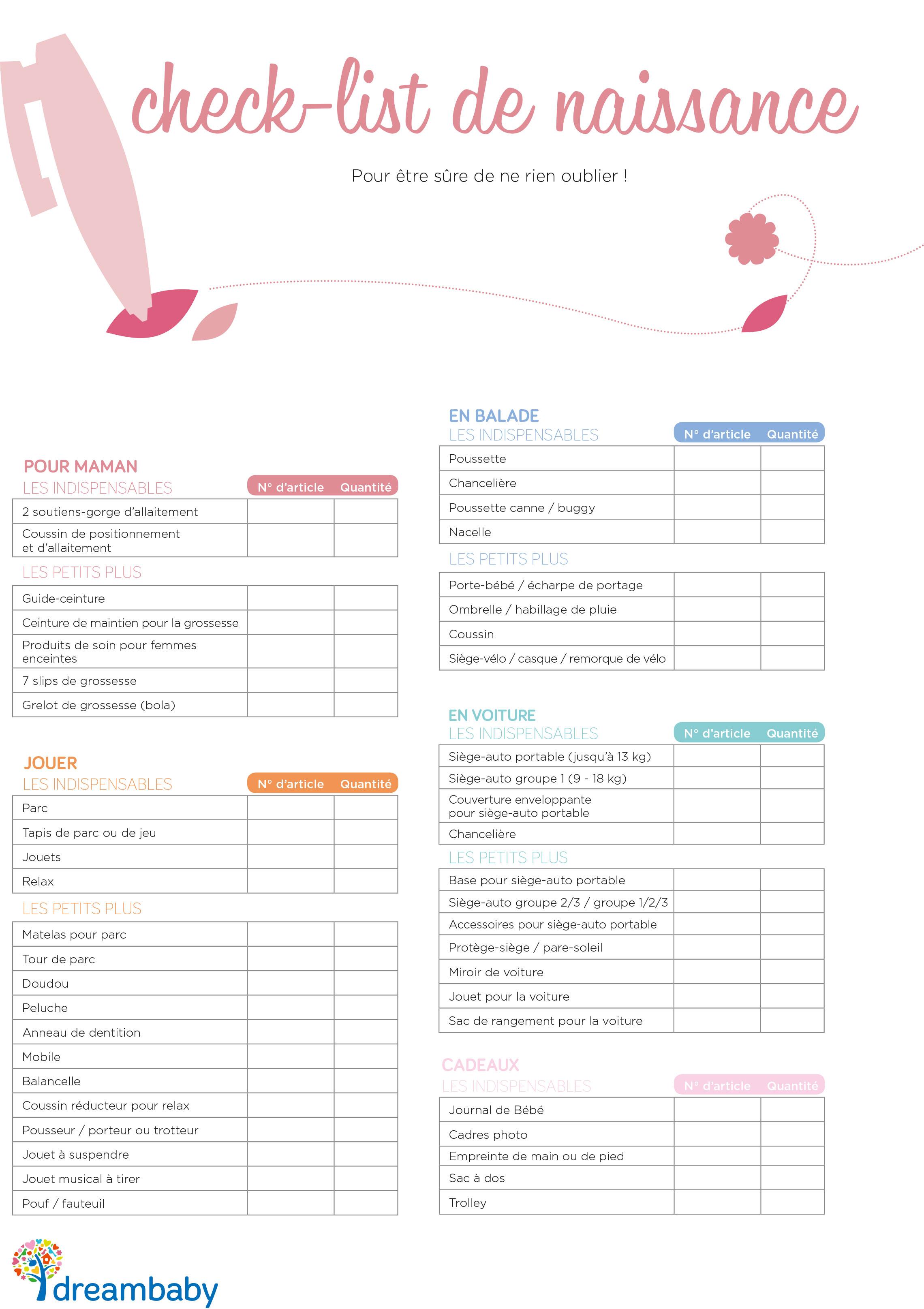 exemple liste de naissance
