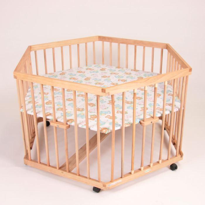 parc bébé en bois