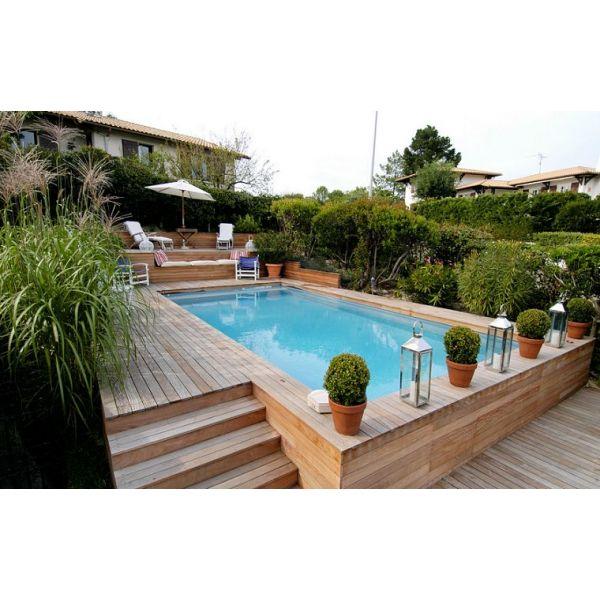 piscine semi enterrée